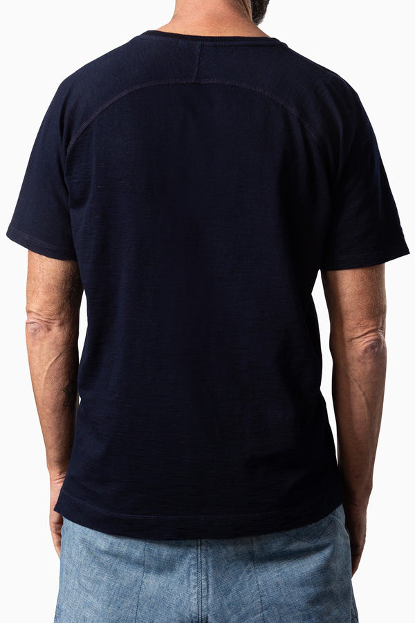 Curvec Pocket Tee Dark Indigo Dyed