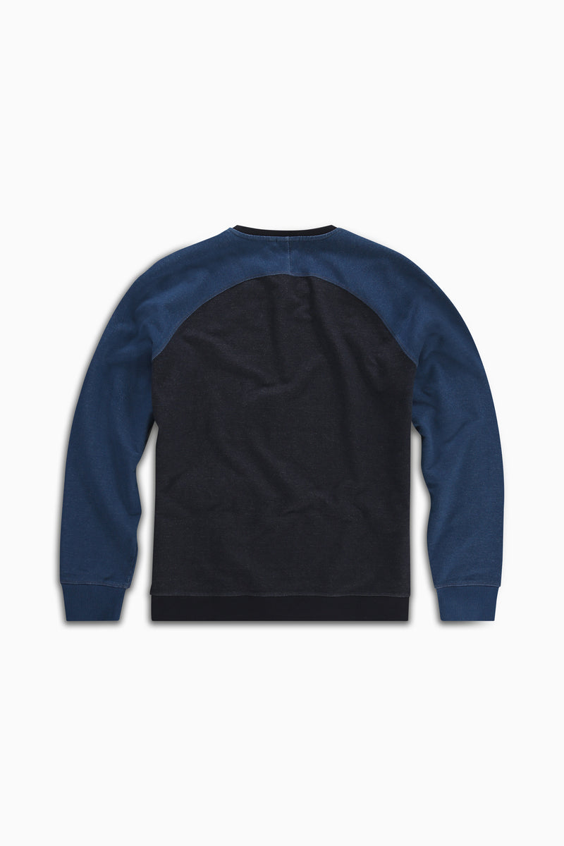 Sweater Two Tone Indigo Dyed