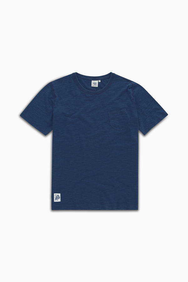 Curved Pocket Tee Light Indigo Dyed