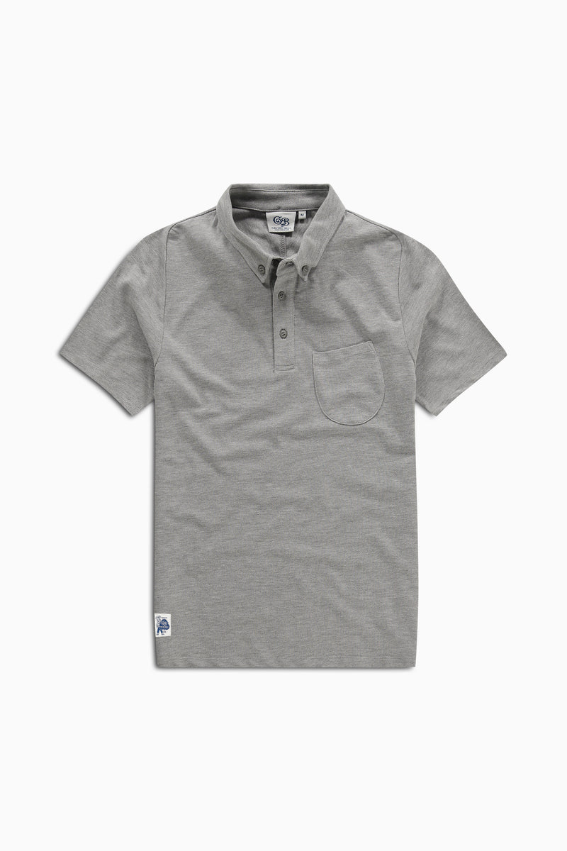 Polo Curved Grey Heather