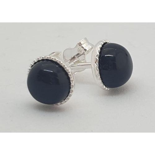 Black Onyx ear studs - Earrings