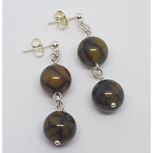 Dragon vein Agate earrings - Earrings
