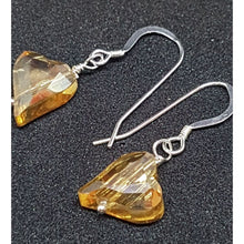 Load image into Gallery viewer, Golden hearts on silver earrings - Earrings