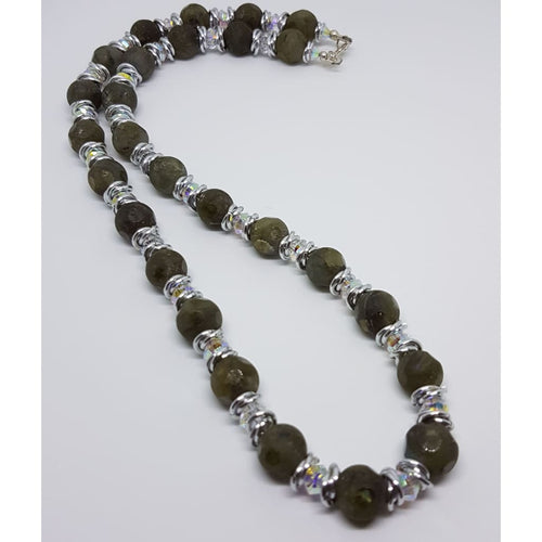 Labradorite and Swarovski Crystal necklace - Necklace