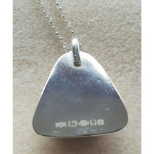 Load image into Gallery viewer, Seaglass in hallmarked sterling silver handmade setting - Necklace