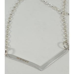 Sterling Silver Chevron necklace - Necklace