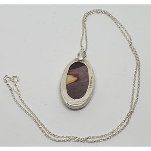 Sterling silver Mookaite Pendant - Necklace