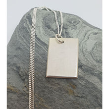 Load image into Gallery viewer, Sterling silver plain dog tag necklace