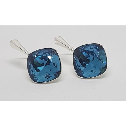 Sterling Silver Swarovski Rhombus earrings - Earrings