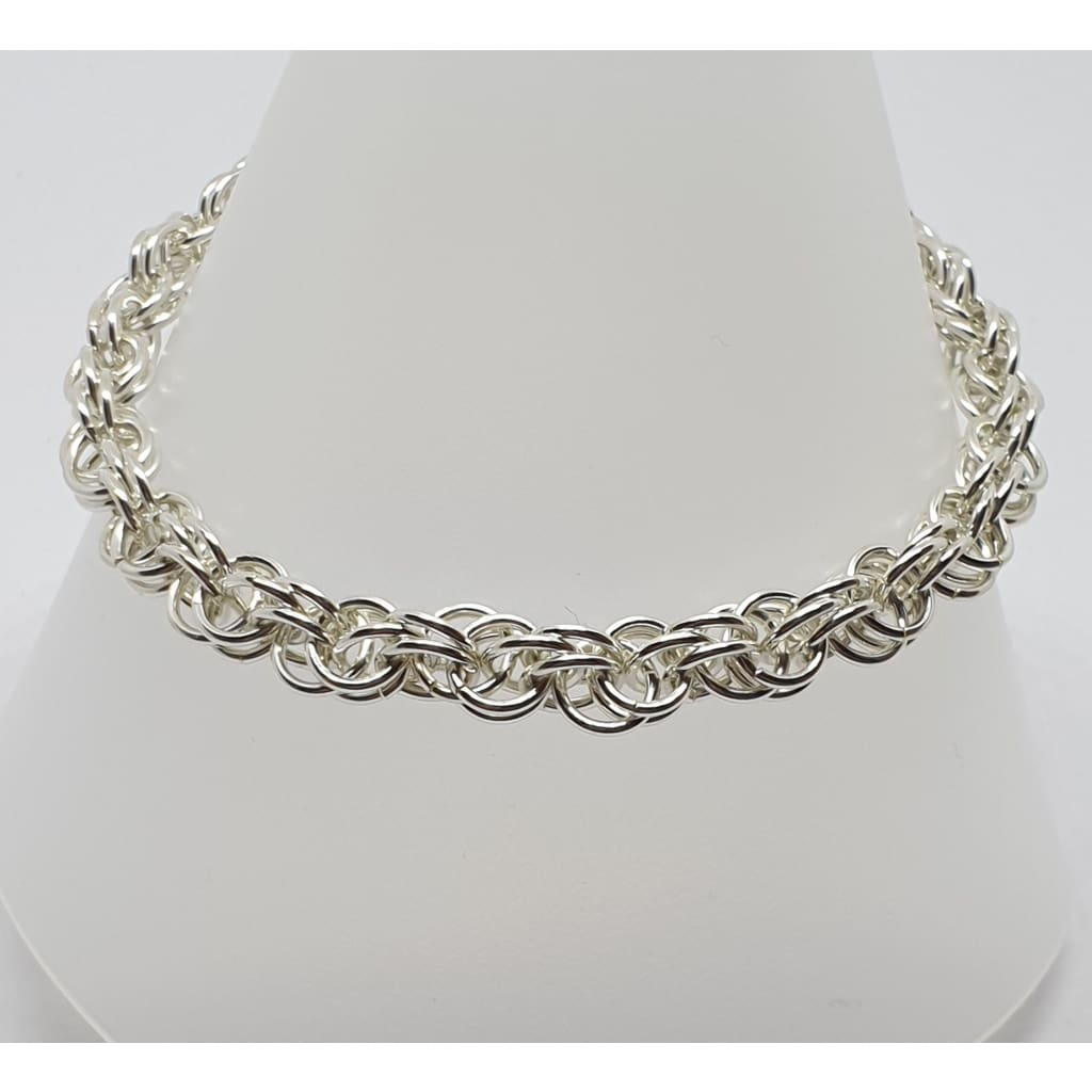 Sterling silver Sweetpea Chainmaille bracelet