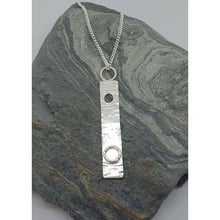 Load image into Gallery viewer, Sterling silver vertical pendant - Necklace