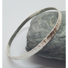 Load image into Gallery viewer, Textured sterling sIlver bangle - Bracelets