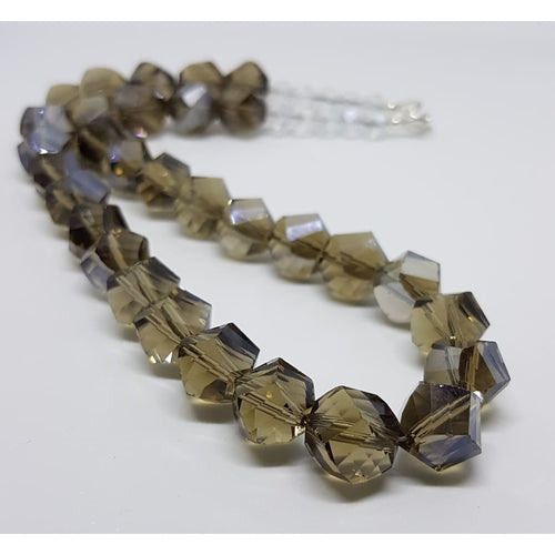 Twisted smokey crystal necklace - Necklace