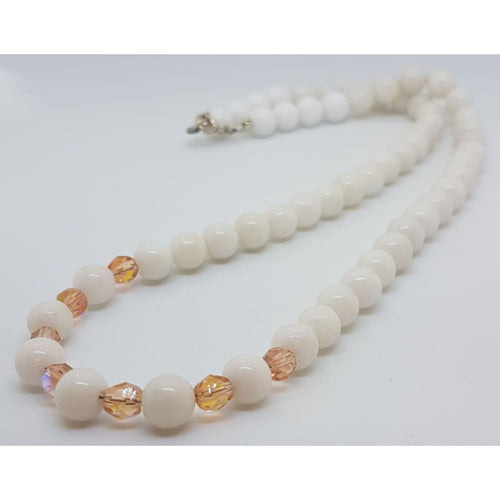 White Quartz and Rosaline crystals Necklace - Necklace