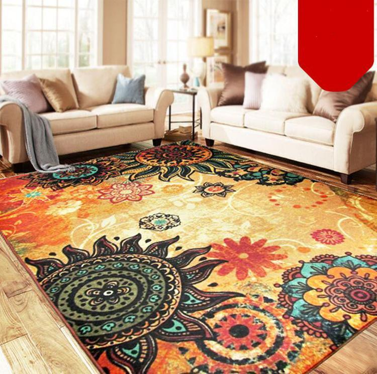 European Style SunFlower Carpet For Living Room