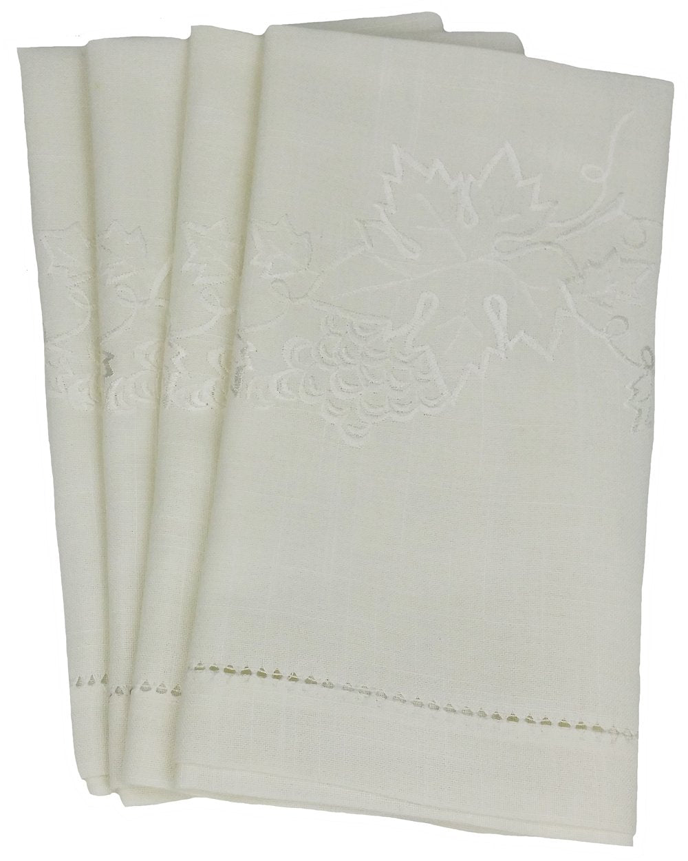 "RA05151 Grapes and Leaves Tea Towel, 14""x22"", Set of 4"