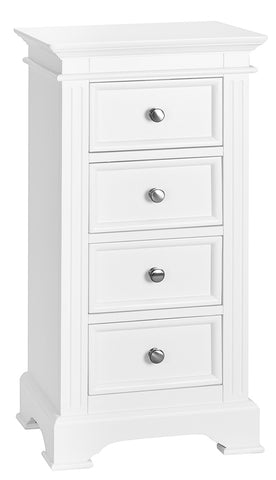 Philippe White 4 Drawer Wellington Chest
