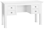 Philippe White Dressing Table, 4 Drawers