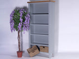 Derbyshire Grey Bookcase, Large with 2 Baskets