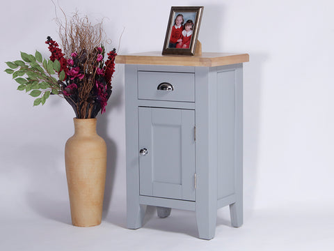 Derbyshire Grey Cupboard, Small with 1 Door and 1 Drawer