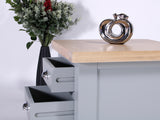 Derbyshire Grey Lamp Table with 2 Drawers