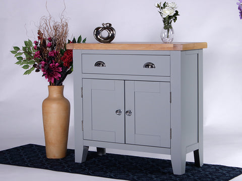 Derbyshire Grey Sideboard, Compact with 1 Drawer