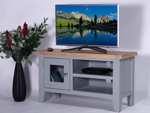 Derbyshire Grey Standard TV Unit with 1 Door and Shelf