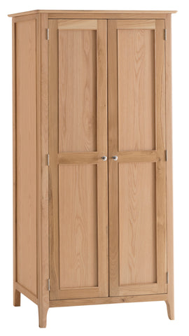 Northamptonshire Oak Wardrobe, 2 Door Full Hanging Wardrobe