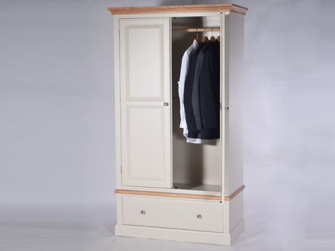 Stamford Two Tone Painted Wardrobe with 2 Doors and 1 Drawer