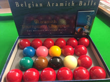 "Load image into Gallery viewer, Full Size 2"" 1/16th Aramith Tournament Champion Snooker Set"