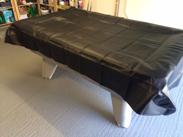 Heavy Duty Table Cover with Side and End Panels - Black