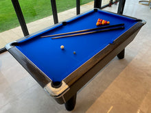 Load image into Gallery viewer, **IN STOCK** Supreme Winner 7' Rustic Black Free Play Championship Pool table in Premium Finish