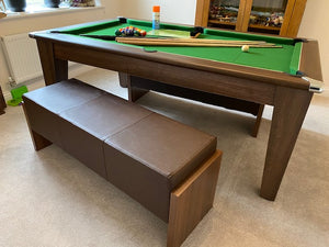 Duo Milano Wood Finish Dining Entertainment Table