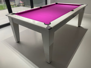 Supreme Gloss White Laminate Finish Classic Meeting Pool Table *EXCLUSIVE to SUPERPOOL*