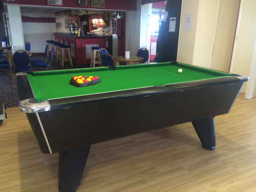 ***RECONDITIONED*** 6' x 3' Black Supreme Winner Free Play Pool table