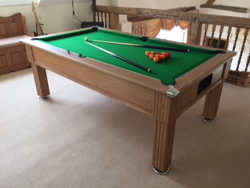 6' OAK Supreme Slimline Prince Free play Pool Table **IN STOCK**