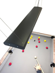 Supreme Tournament LED Pool Table Lighting in Storm Grey Finish