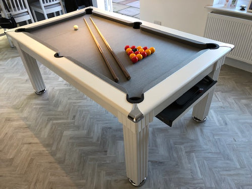 Supreme WHITE Traditional Dining  Pool Table