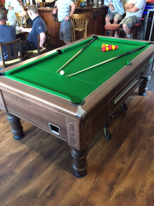 **In Stock** 6' Walnut Supreme Prince Free Play Pool table