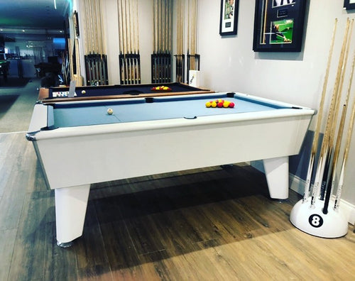 **IN STOCK** Optima Classic 6' White Free Play Championship Pool table.