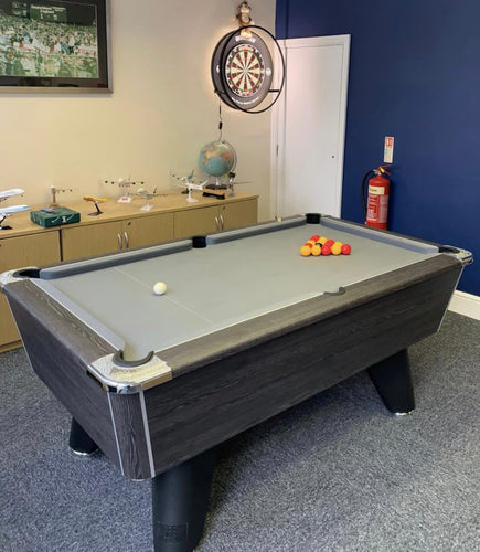 **IN STOCK** Supreme Winner 7' Rustic Black Free Play Championship Pool table in Premium Finish