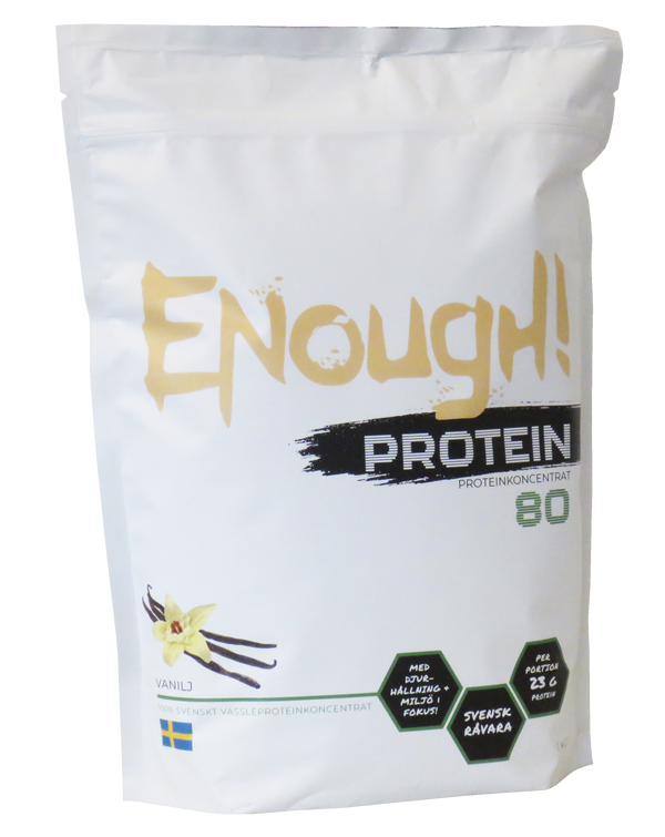 Enough Proteinkoncentrat 80 Vanilj 1kg