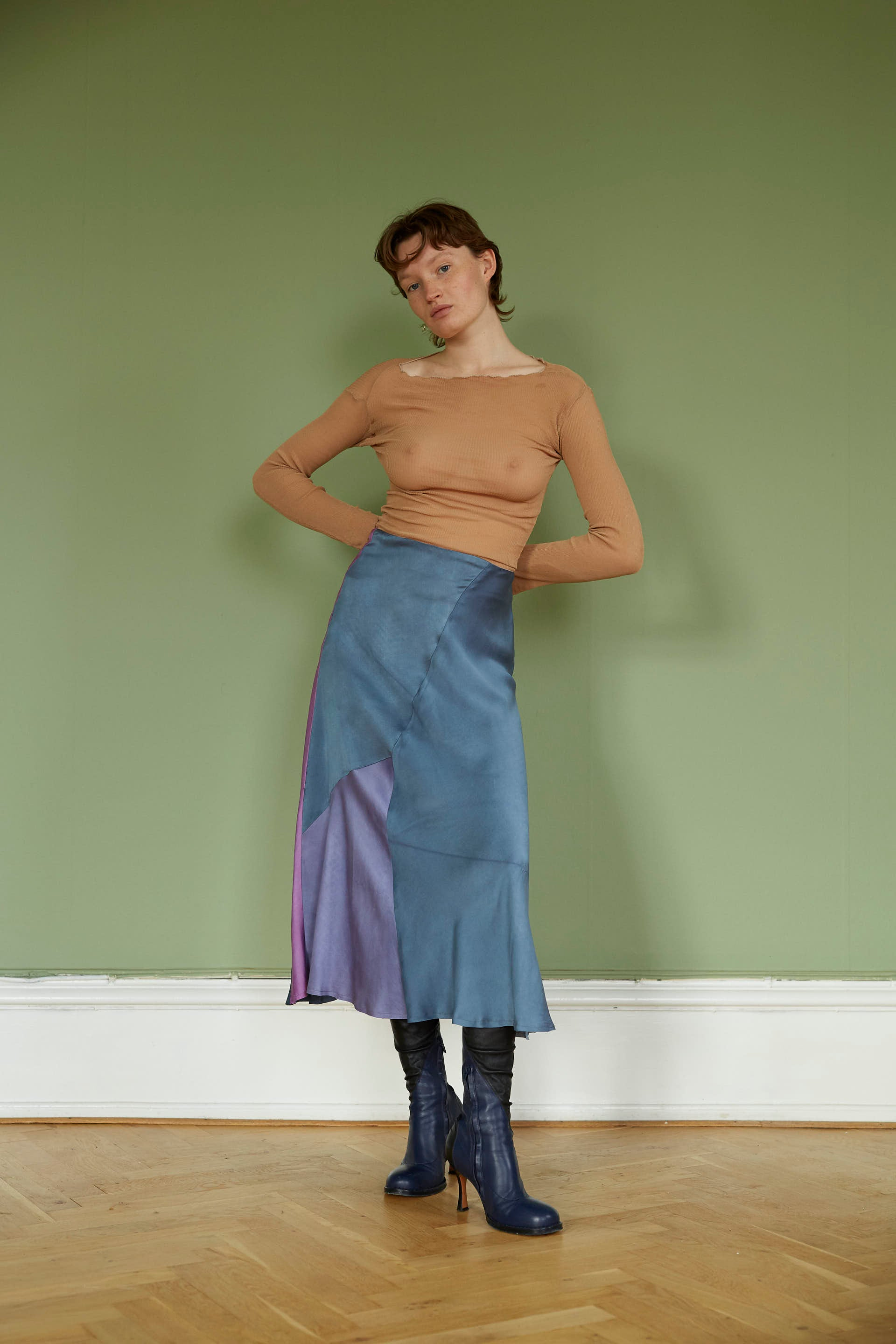 Multicolored Silk Skirt