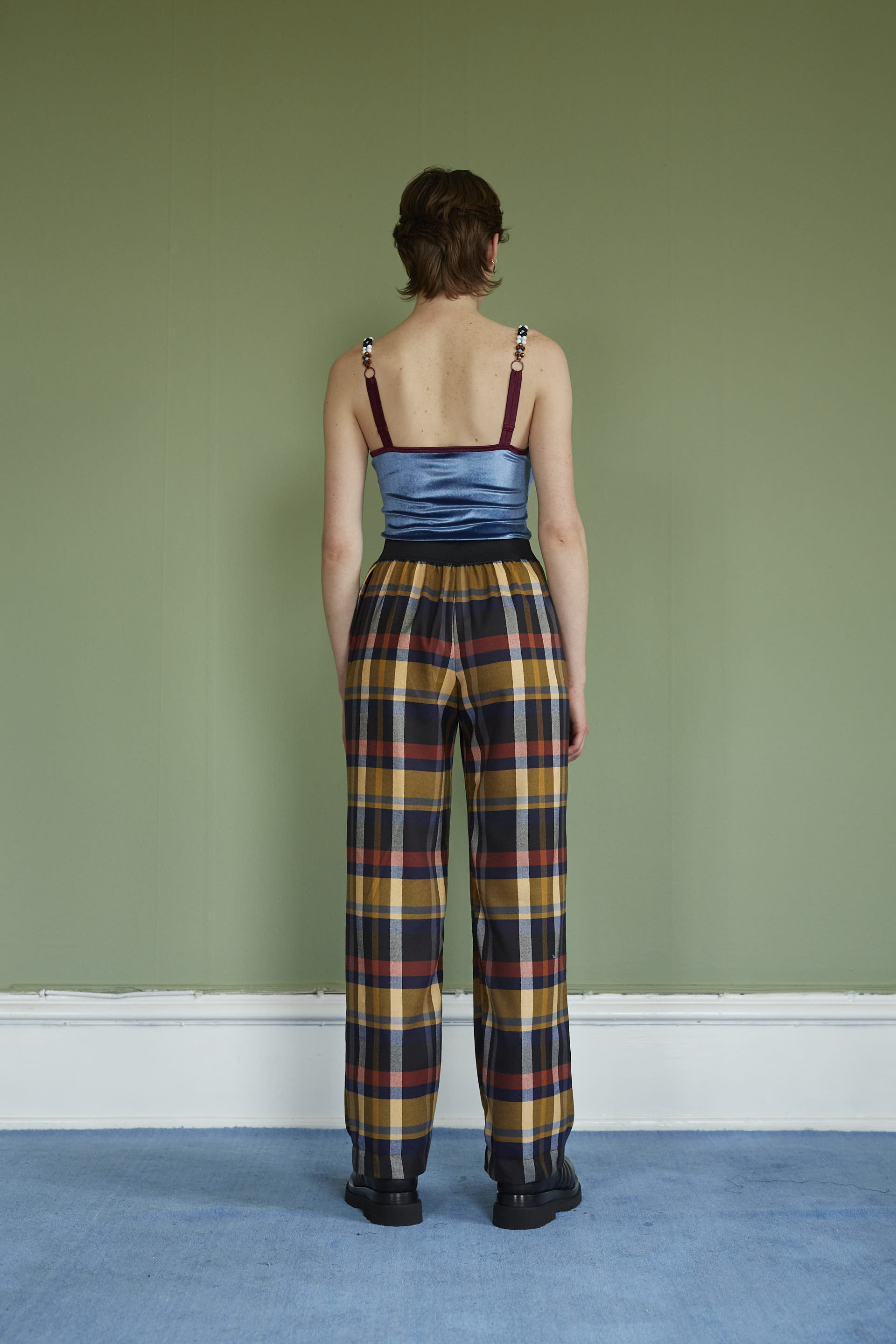 Wool Checkered Pants