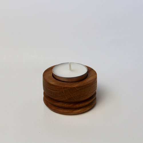 Mini White Oak Tea Light Holder