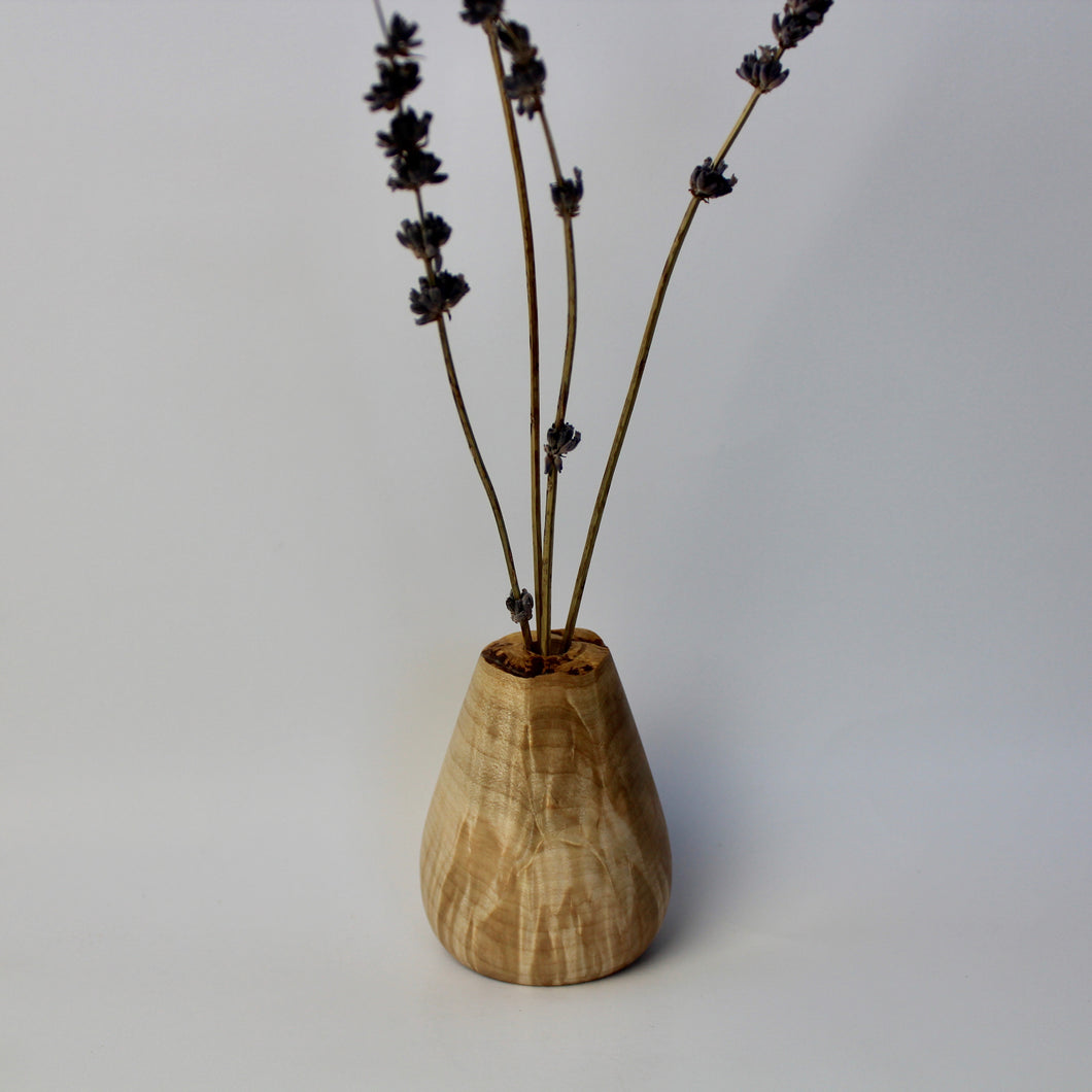 Curly Maple Bud Vase