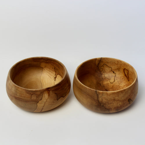 Spalted Maple Spice Bowl Pair