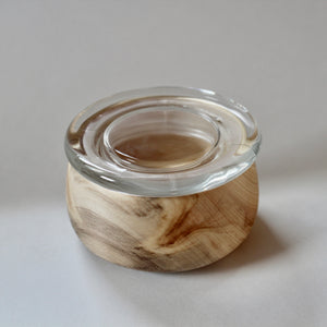 White Aspen Bowl with Lid