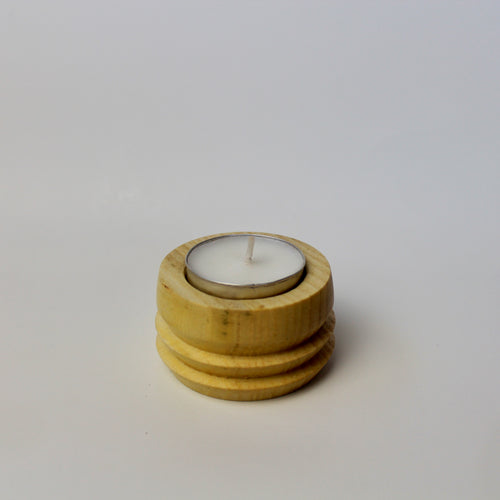 Mini Elm Tea Light Holder