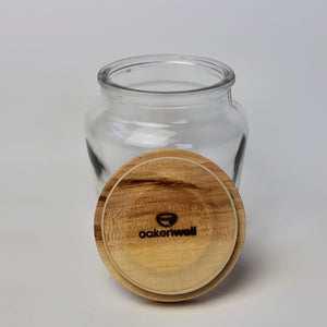 Glass Jar with Maple Lid